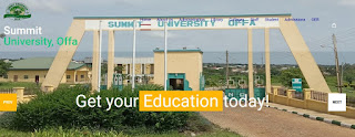 COURSES OFFERED IN SUMMIT UNIVERITY, www.summituniversity.edu.ng