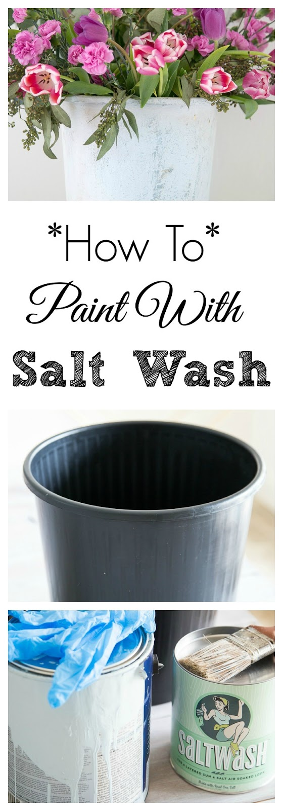 How To Use Saltwash Paint Additive For Upcycling