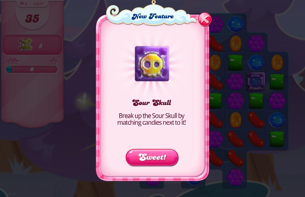 Candy Crush Saga Sour Skull
