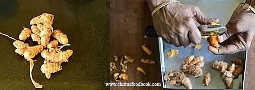 how to make turmeric powder at home