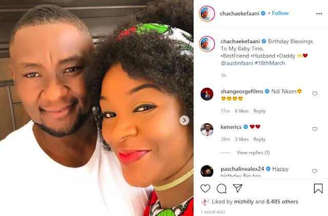 Chacha Eke celebrates her husband, Austin Faani on his birthday (Photos)
