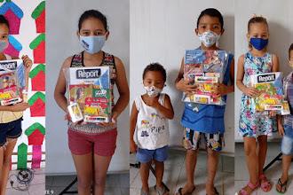 INEC doa 40 kits de materiais pedagógicos e didático para crianças do Espaço de leitura da OSC CEACRI de Itapiúna