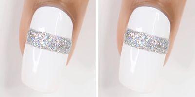 finalizar as unhas decoradas com esmalte branco