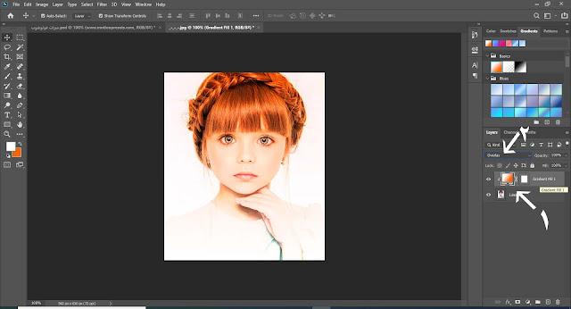 تأثير التدرج اللوني على الصورة في الفوتوشوب 2020