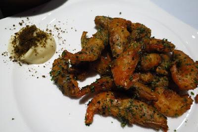 Shun X Sakemaru, fried amaebi seaweed