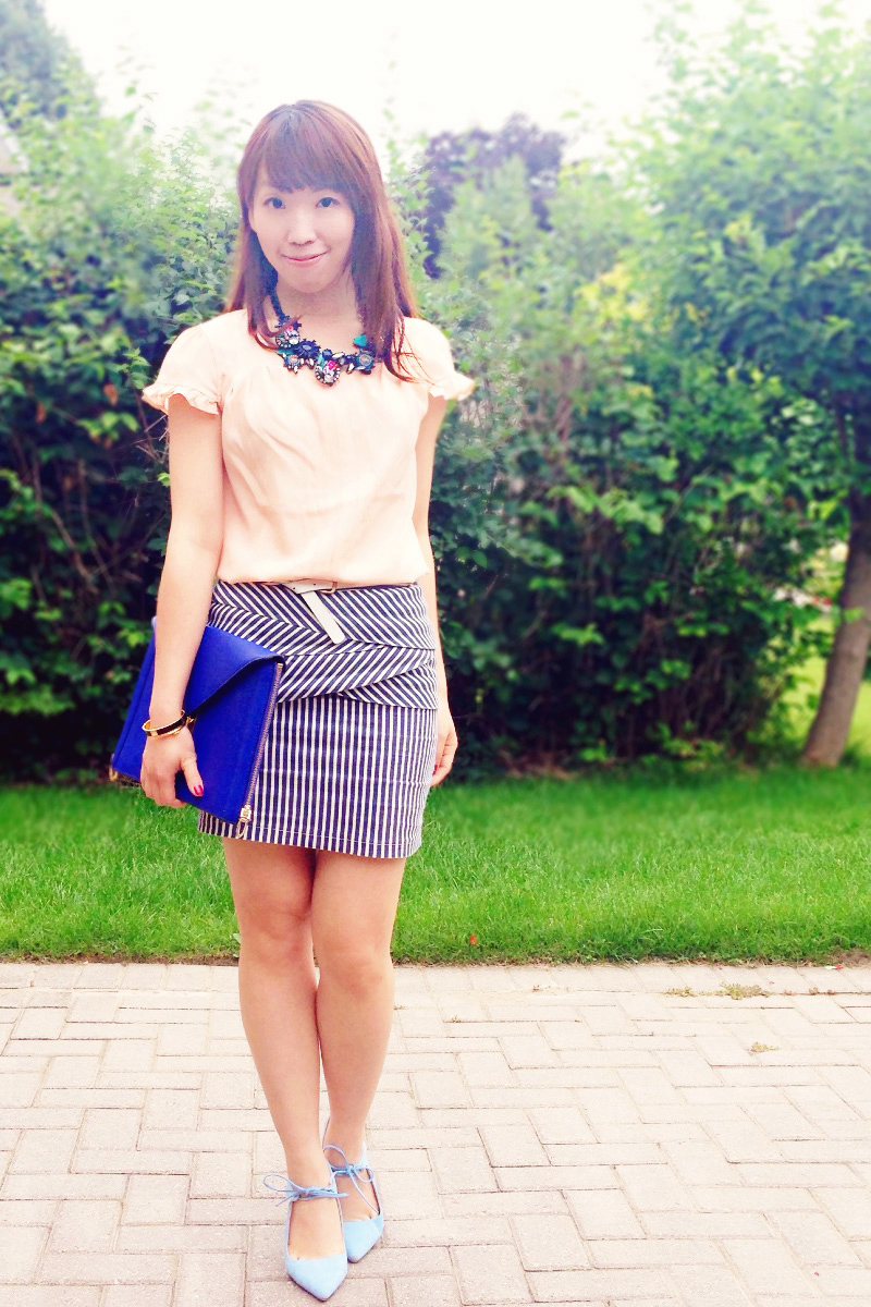 {Outfit of the Day} Stripes and Peplum