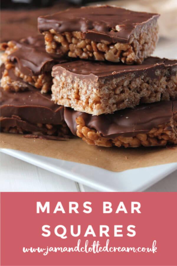 Mars Bar Squares  #chocolate #nobake #chocolatetreat