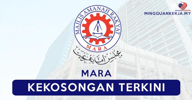 Mohon Segera Jawatan Kosong Terkini Di Majlis Amanah Rakyat (MARA)