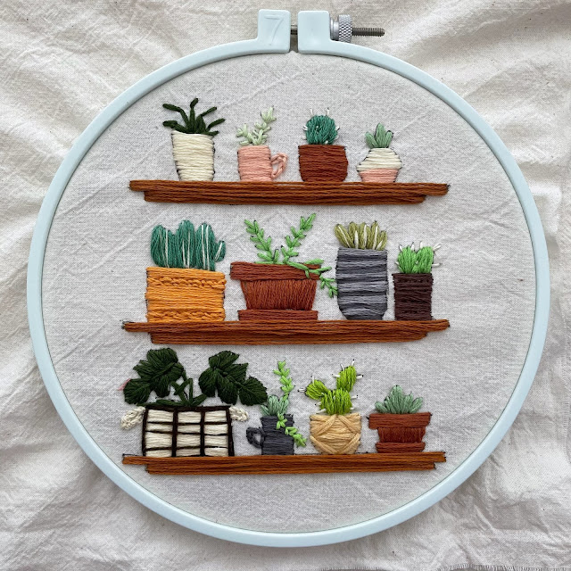 embroidery design plant