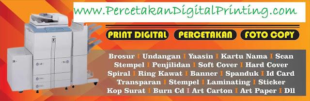 Digital Print Terdekat Di Cibubur Oke Percetakan Macam2 Media Promosi