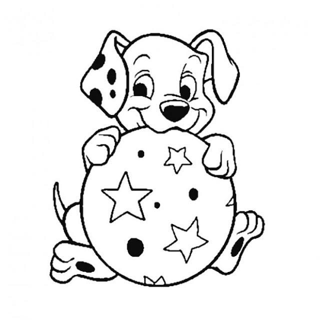 صورة كلب للتلوين للاطفال الصغار