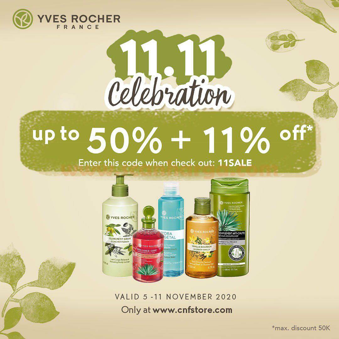 Promo Yves Rocher 11.11 Celebration up to 50% OFF*