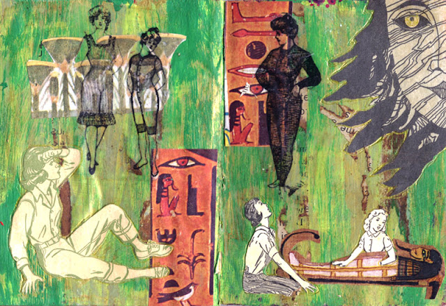 altered book about Nancy Drew in ancient Egypt