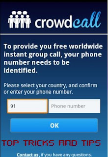 Top Tricks And Tips : CrowdCall : Enter your Number