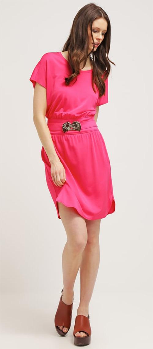 Robe courte de soirée rose Versace Jeans