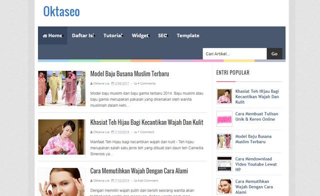 Oktaseo Responsive Blogger Templates