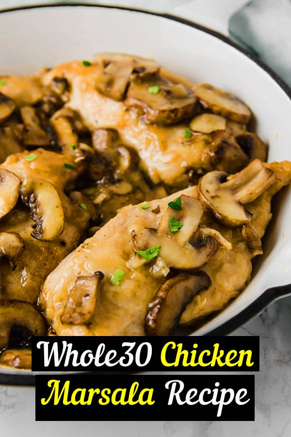 This chicken marsala has all of the flavors of the classic but is made to be paleo, whole30, and AIP compliant! #dinner #chicken #marsala #keto #lowcarb #whole30