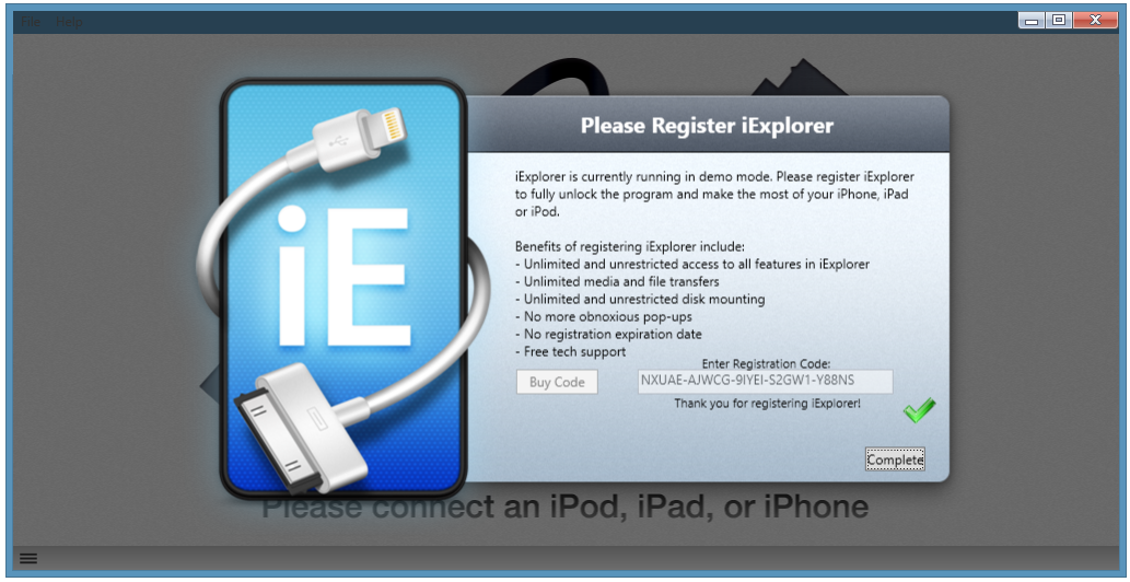 iexplorer 4.1.5 registration code