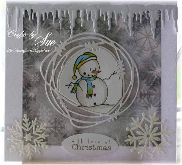 Snowman free digital stamp