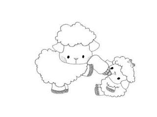 risco de ovelhinhas para pintar em fralda