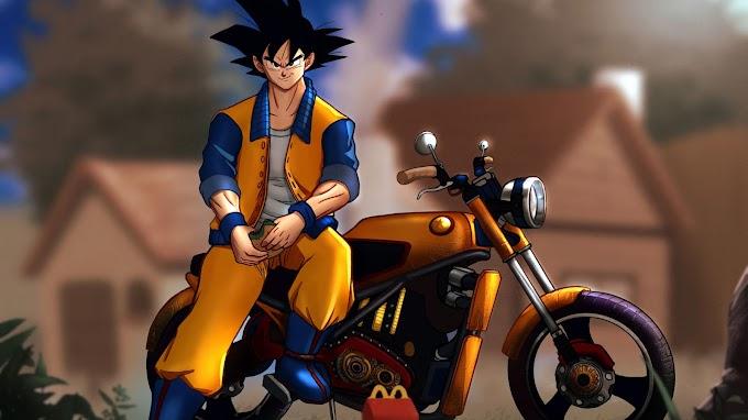 DBZ Goku Sayajin Moto Tunada