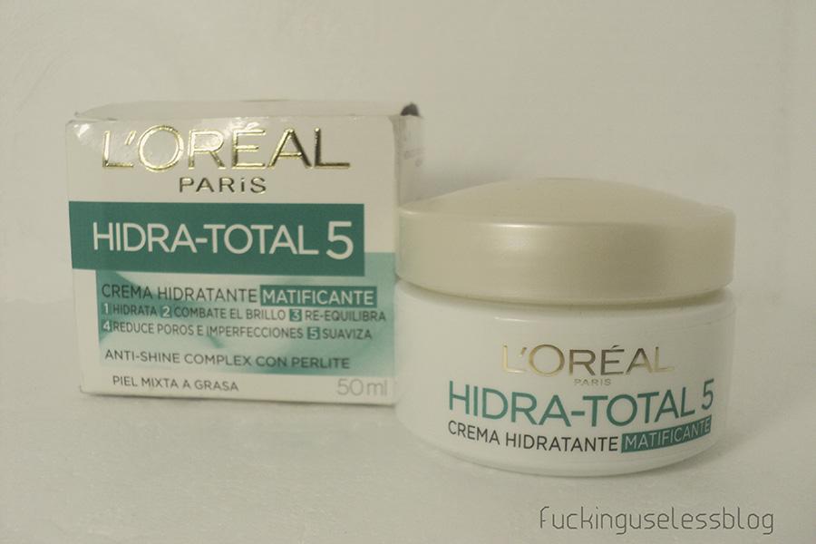 crema hidratante matificante loreal