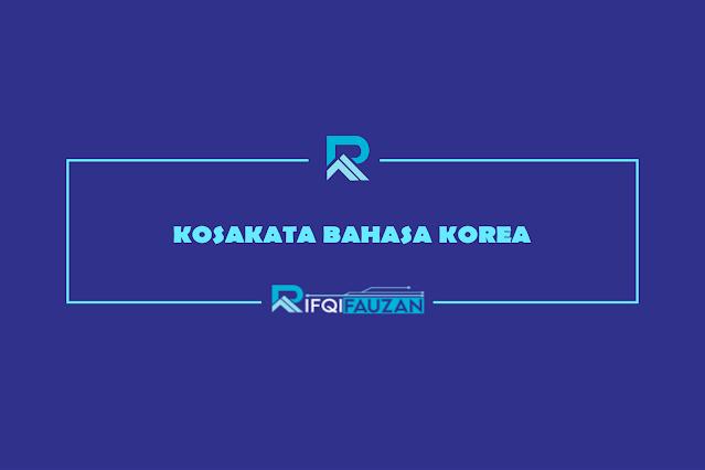 kosakata bahasa korea