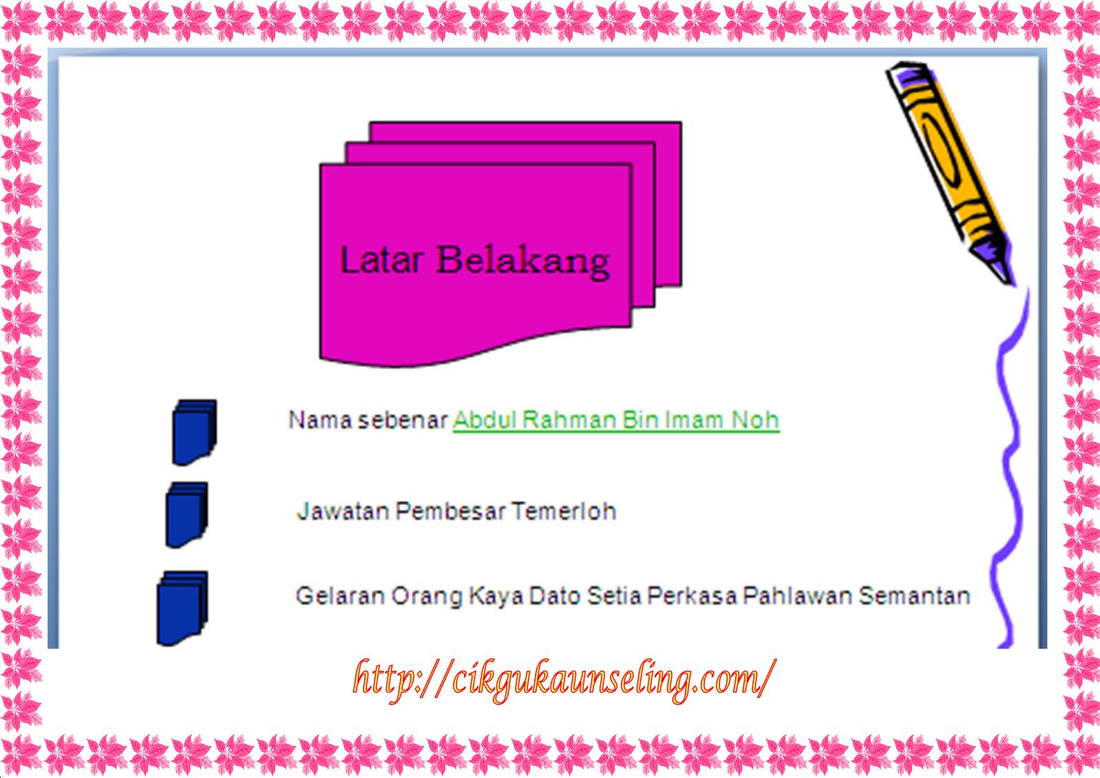 Sejarah Pahlawan Dato' Bahaman di Pahang