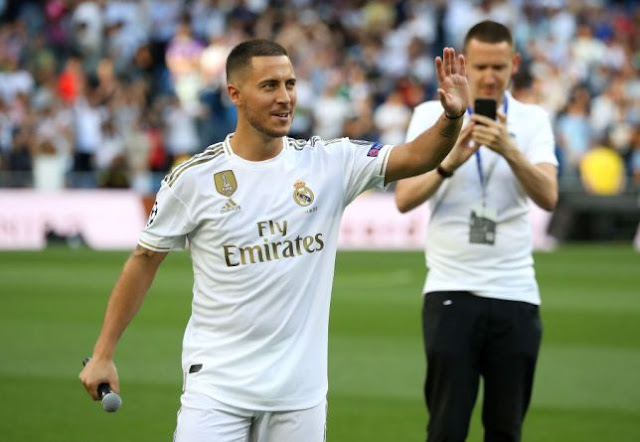 Real Madrid fans demand Mbappe during Hazard's unveiling