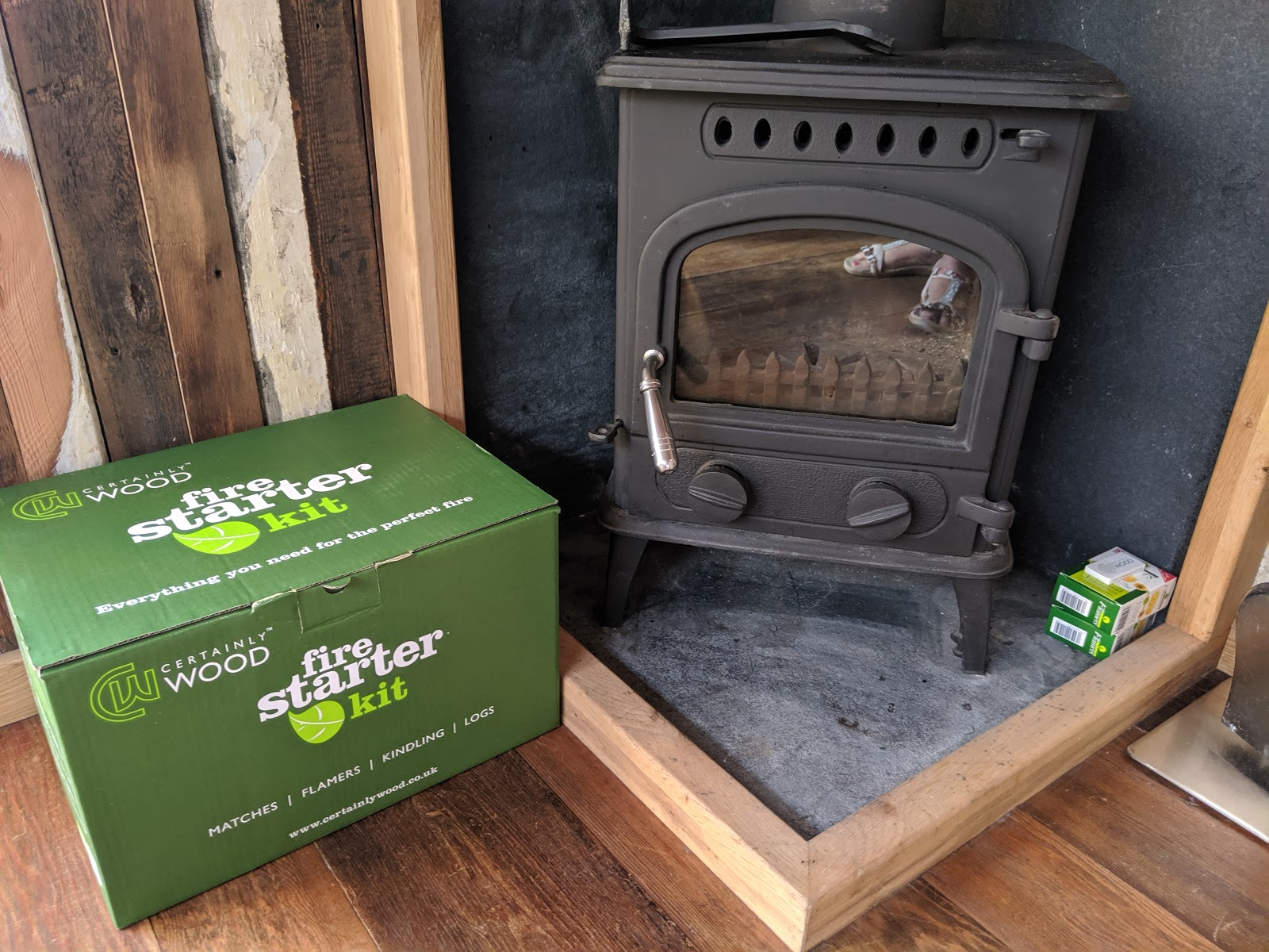 Shepherd's Retreats Beadnell Review - Dog-friendly Glamping in Northumberland - wood fire starter kit