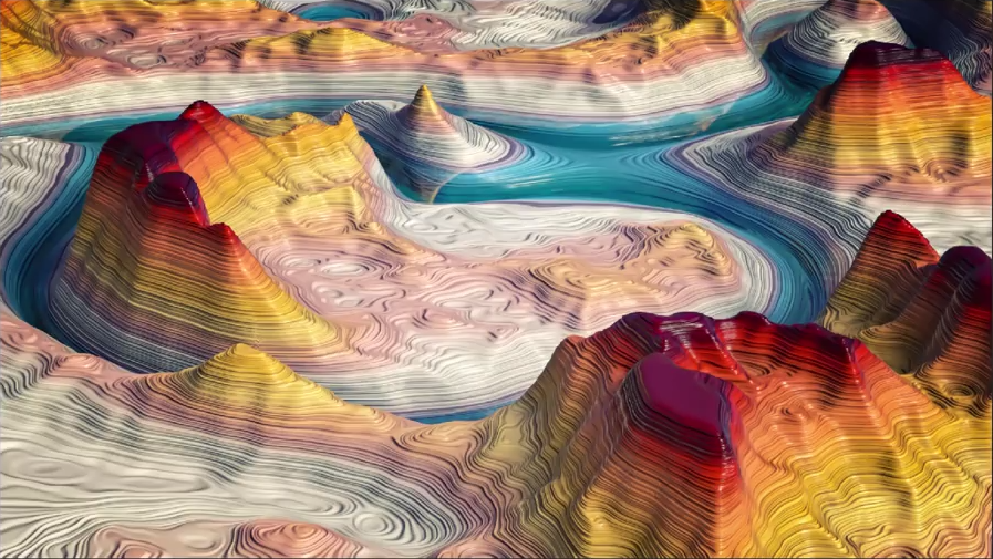 Creating Colorful Canyons in Cinema 4D | CG TUTORIAL