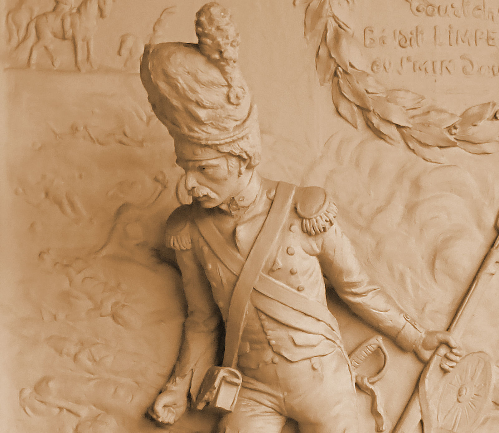 Sculpture Jules Clamagirand - Soldat Napoléonien, maison du Broutteux, Tourcoing.