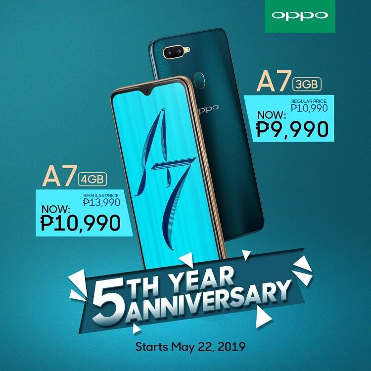 OPPO Announces 5th Anniversary Promo