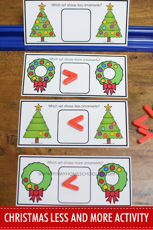 CHRISTMAS THEMED MORE OR LESS LEARNING MATERIALS