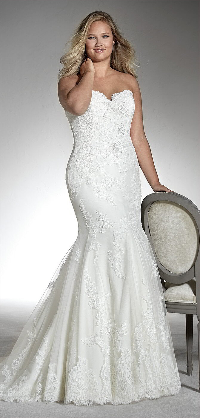 56f4d1fe87d0a White One 2018 Plus Size Wedding Dresses - World of Bridal