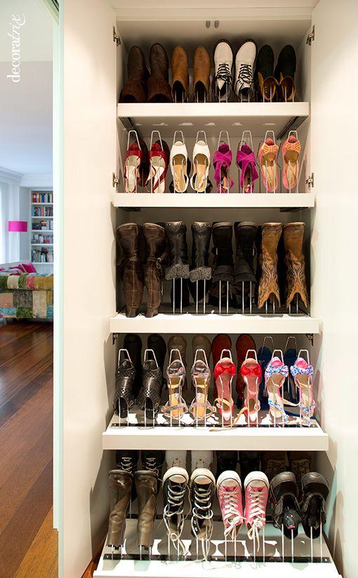 Hogar diez 25 ideas para organizar los zapatos en tu hogar - Como ordenar tu armario ...