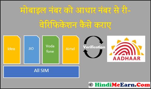 Mobile number को Aadhaar number से verify कैसे करे.