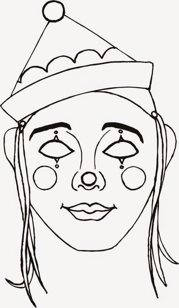 Clowns Free Printable Coloring Masks or Templates.   Oh My Fiesta ...
