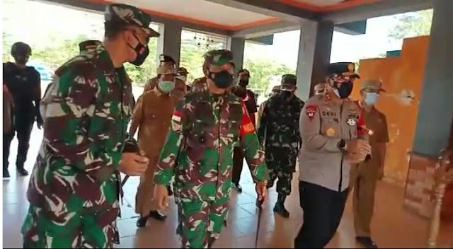 Pangdam XII/ Tanjungpura Kunjungi Lokasi TMMD ke 110 Desa Saka Lagun