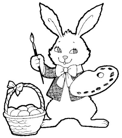 easter bunny coloring page wallpaperholic
