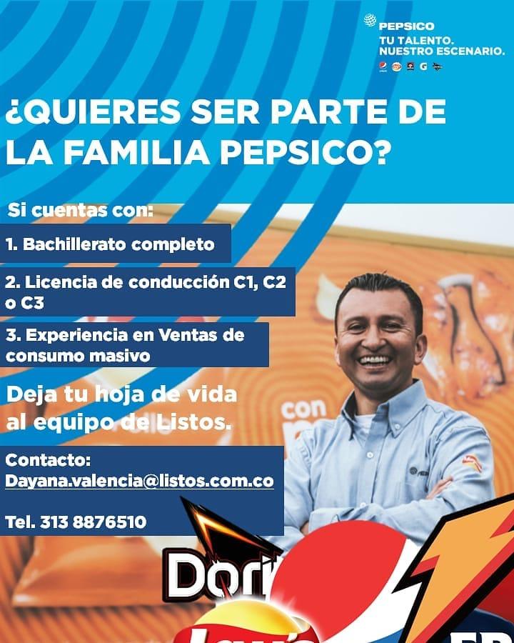 Oferta de Trabajo en Pepsico