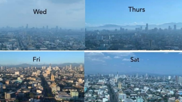 Resident shows Manila's skyline is clearing up, silver lining of quarantine