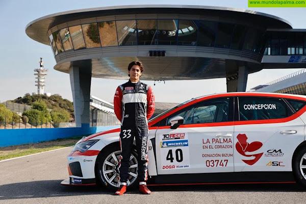 Santi Concepción Jr con La Palma en el corazón compite en el circuito de Jerez este fin de semana