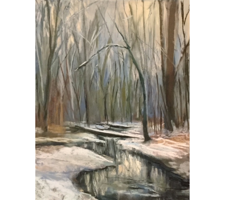 Winter's First Blush, 9x12 inches