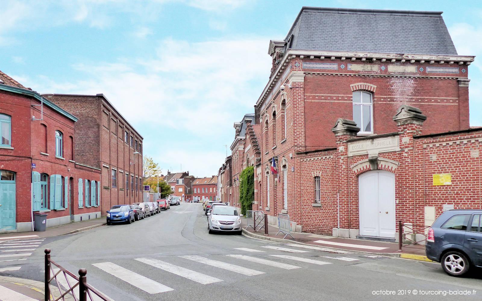 Rue du Virolois, Tourcoing - École Pasteur.
