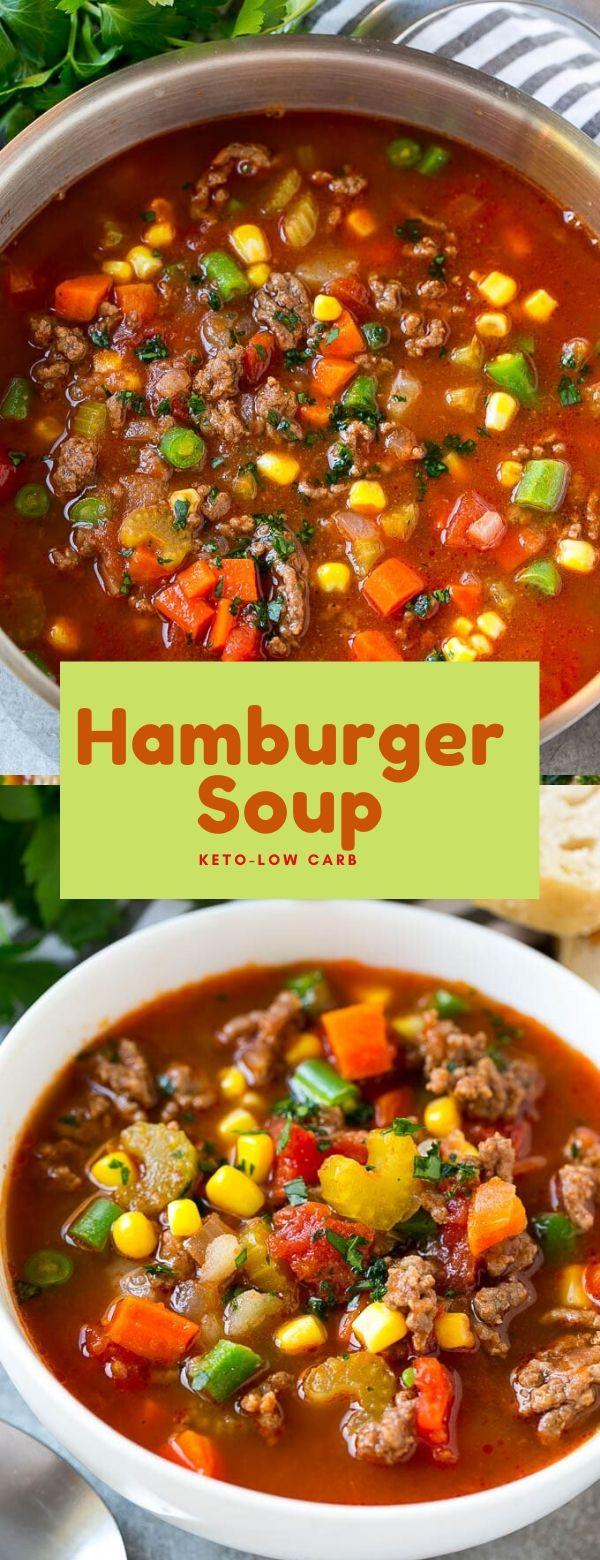 Hamburger Soup -Keto- Low Carb