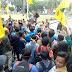 Demo Satu Tahun Pemerintahan Zul-Rohmi Diwarnai Kericuhan