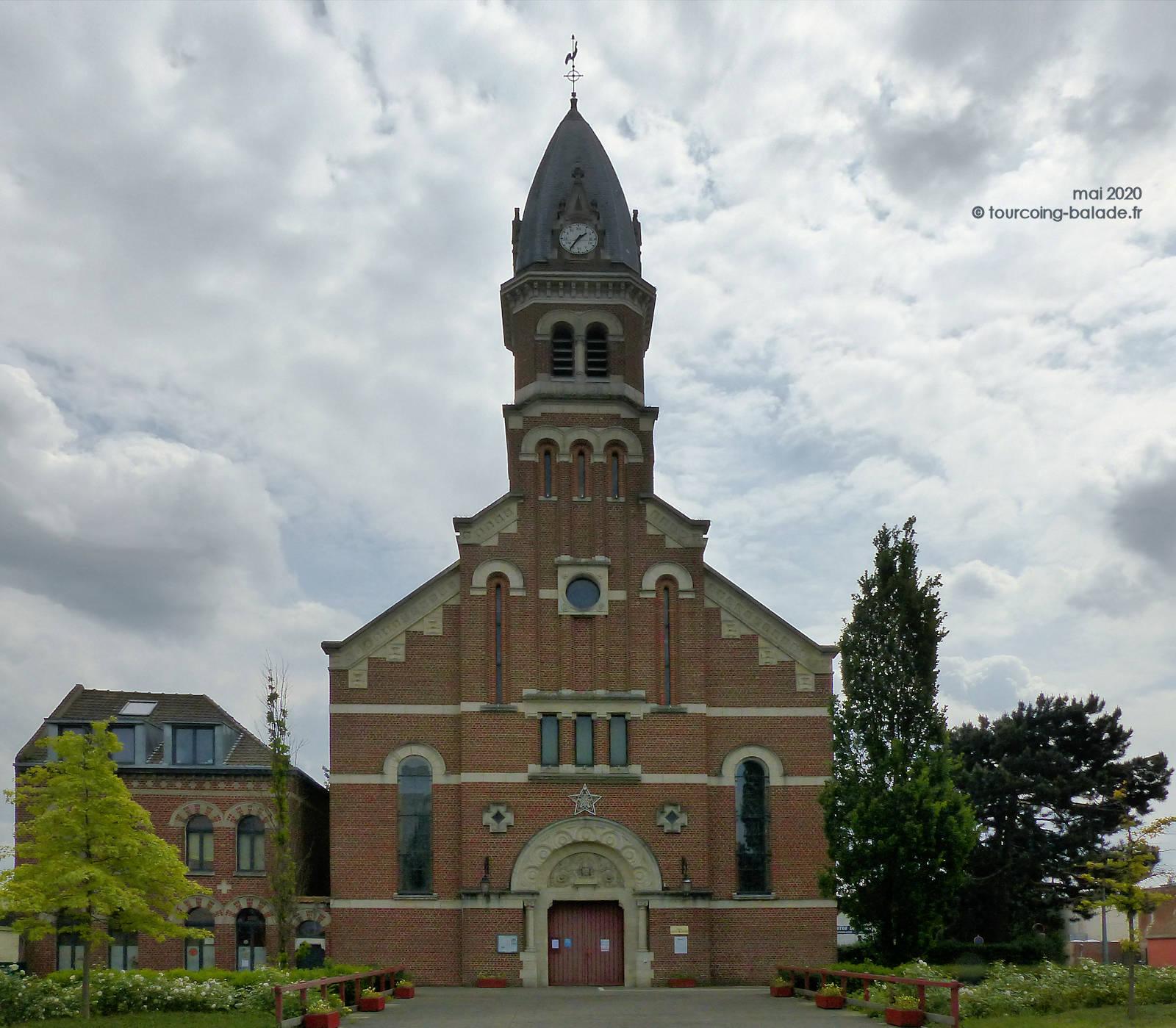 Façade de l'église Saint-François, Mouvaux 2020