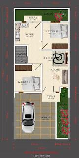 Floor Plan Rumah Murah Tanpa DP - Tanpa Bunga - Tanpa BI Checking - Simpang Selayang Medan | District M