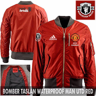 Jual Jaket Bomber Jokowi Pilot Manchester United Red